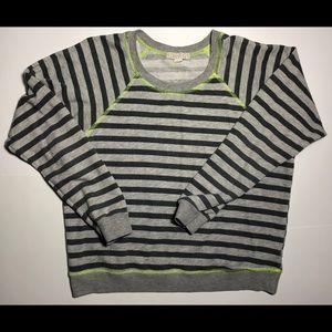 Forever 21 Gray Stripe Pullover Lightweight Swtr